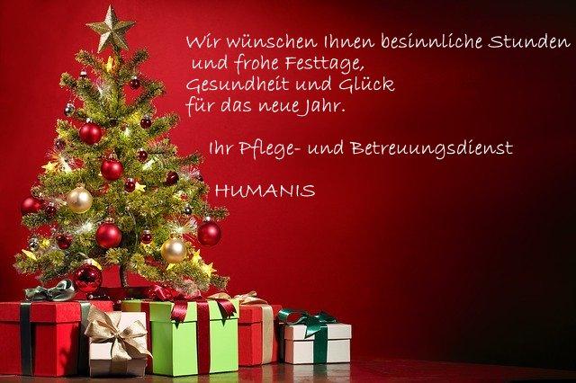 Weihnachtsgrüße 2019 Humanis Pflegedienst